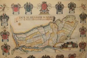 Kaart van de Alblasserwaard