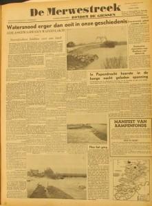Merwestreek 6 feb. 1953
